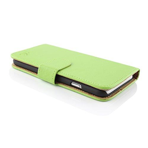 Apple iPhone 6 / 6s Handyhülle von original UrCover® in der Wallet Edition Schutzhülle Edel Case Cover Etui Grün Grün