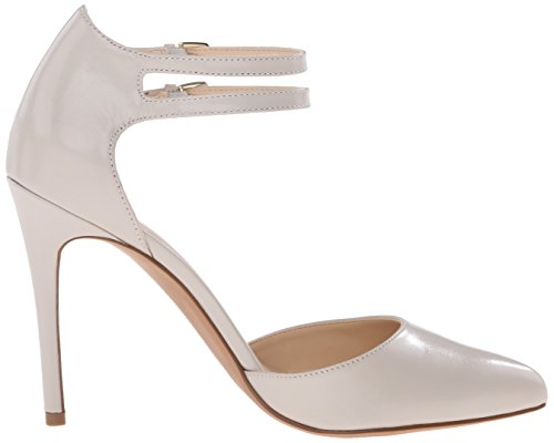 Nine West Eastlyn Leather Pump Dress Light Grey