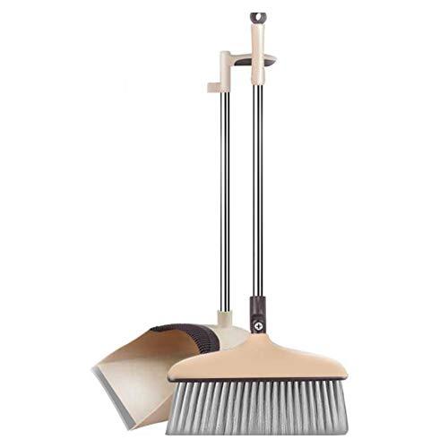 navigatee Besen , Kehrschaufel-Set Kombination mit Einer Kratzbürste Weichhaar-Zauberbesen für geschwungenes Haar Haushaltsbesen und Kehrschaufel