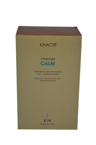 Kin Lotto di 6 bottiglie di trattamento intensivo lenitivo per cuoio capelluto sensibile massaggio Massaggio Calma Kinactif 6 x 50 ml
