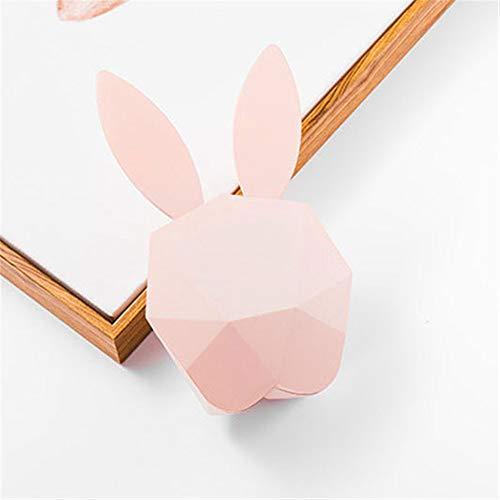 PDDXBB Niedliche Kaninchen Led Nachtlicht Hase Wecker Digital Intelligent Sound Control USB Wiederaufladbare Wand Tischuhr Für Heimtextilien Rosa 12.6D * 5W * 21.3H cm Alarm Control Interface