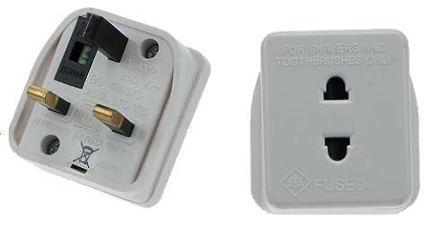 orion UK Plug Tooth Brush Bathroom Shaver Socket Adapter