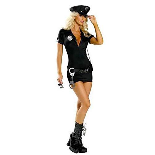 TYYT-fz Polizeiuniform Weibliche Polizei Instructor Uniform Halloween-Partei-Kostüm Cop Kostüm (Size : S)