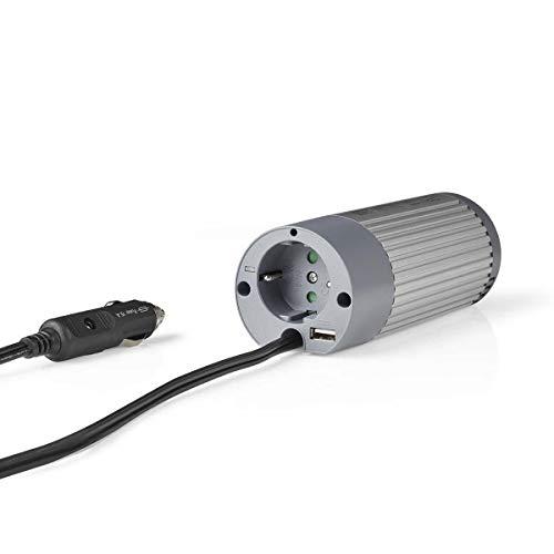 TronicXL Profi Wechselrichter 12V 230V 100W + USB Port Lade Buchse Spannungswandler Zigarettenanzünder Steckdose Adapter Konverter Converter Strom für KFZ Auto umwandeln modifizierte Sinuswelle