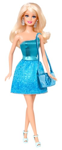 Mattel BCN34 - Barbie Glitzer-Puppe, (Lila Monster Haare High)