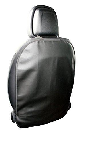 Unbekannt Rückenlehnenschutz Adrett Deluxe Kunstleder hochwertig ca.69 x 48cm Befestigung Gummiband Oben & unten Sitzschutz schwarz Abwaschbar !!