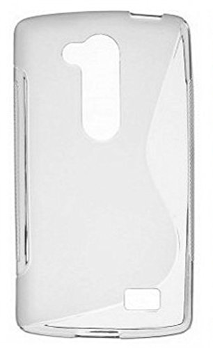 tag-24 TPU Schutzhülle passend für LG L Fino Gummihülle Silicon Backcase Silikon Handytasche S-line Case Rückschale transparent