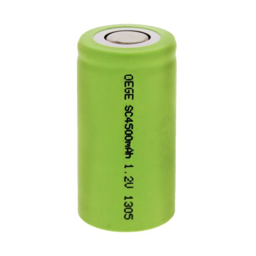 OEGE Hochleistungs Power Sub-C Model Akku mit 1,2V 4500 mAh, SC4500