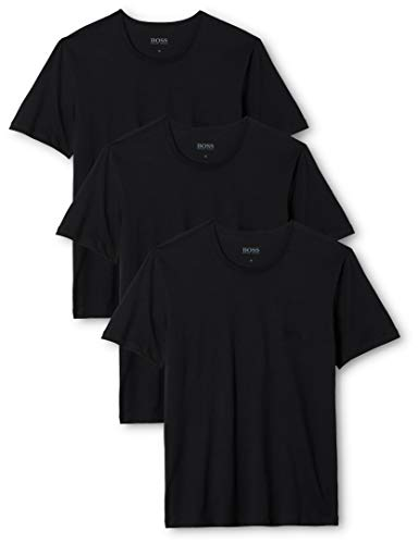 BOSS Herren RN 3P CO T - Shirts, Schwarz (Black 001), Medium (erPack 3