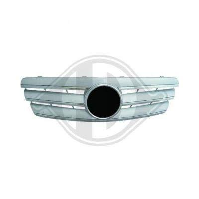 calandre compl., chrome/argent DB W203, 00-07 chrome /argent