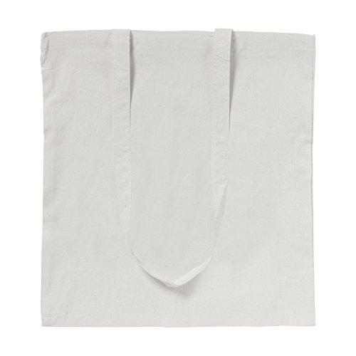 eBuyGB confezione da dieci 100% 4oz cotone Shopping Tote borse a tracolla (marrone) Naturale