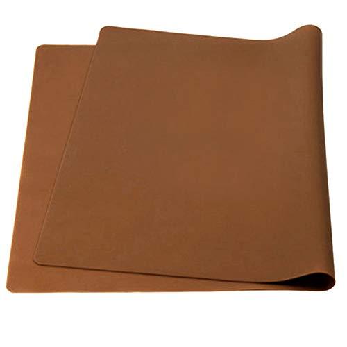 Aspire épaissir antidérapant étanche en silicone Sets de table Sets de table flexible extra-large, 1pièce, café, Taille unique