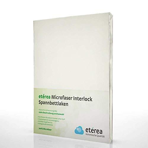 #2 Etérea Classic Microfaser Interlock Kinder-Spannbettlaken, Spannbetttuch, Bettlaken, 5 Farben, 60x120 - 70x140 cm, Nature
