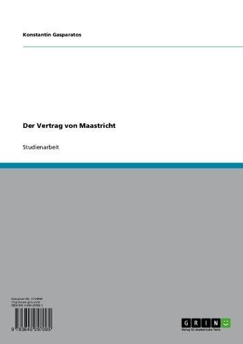 Der Vertrag Von Maastricht Ebook Konstantin Gasparatos Amazonde