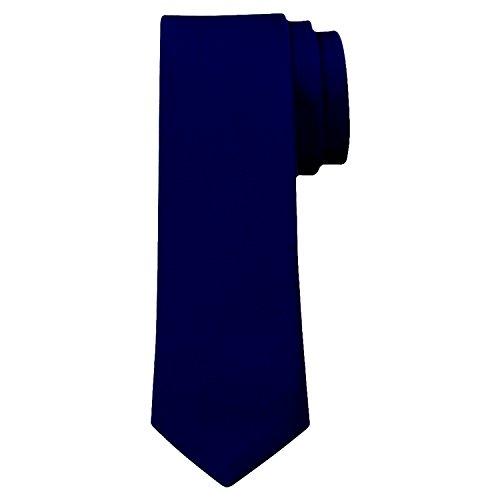 OM3™ K-17 TRENDY SKINNY TIE / Modische schmale dünne Krawatte - DUNKELBLAU - Party Business Schlips Handmade Smoking Anzug Unisex (Tie Skinny Blaue)