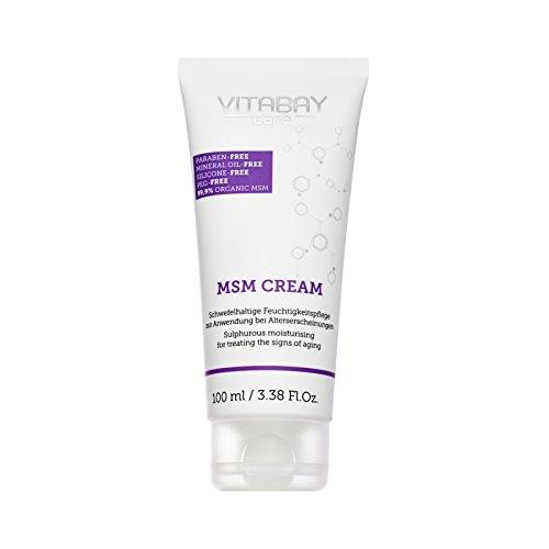 MSM Creme 100 ml extra stark – mit 99,9% organischem MSM - Schwefelhaltige Feuchtigkeitspflege zur Anwendung bei Alterserscheinungen