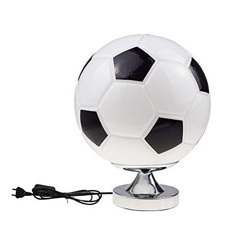 Lámpara de mesa de fútbol, dormitorio, lámpara de mesita de noche, creativa,...