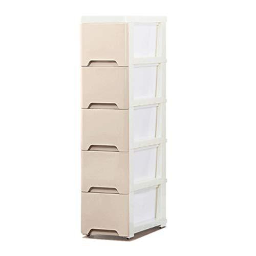 18 / 25cm breiter Schlitz-Speicher-Kabinett/Fach-Zahnstange/Schlitz-schmaler Küchen-Kühlraum-Badezimmer-Schließfach (Color : Khaki, Size : 25cm) -