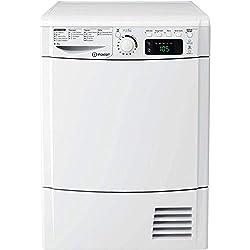 INDESIT-Sèche linge Hublot-Capacité : 8 kg, Type de séchage : condensation, Type de programmation : électronique, Nombre de températures : NC, Classe énergétique : B, Couleur : blanc