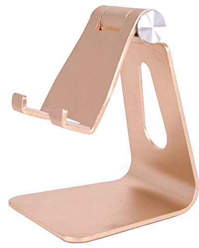 Tablet-Telefon-Standplatz für iPad Luft Pro iPhone X 8 7 6 Plus Samsung-Galaxie-Vorsprung Android Smartphones Tabletten (4-8 Zoll) E-Leser - Gold ()