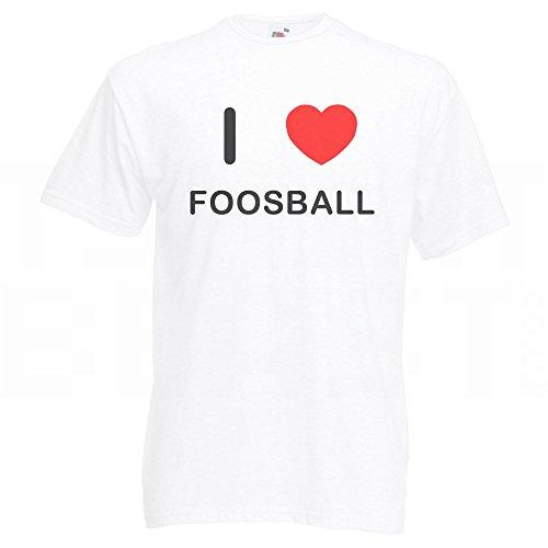I Love Foosball - T-Shirt Weiß