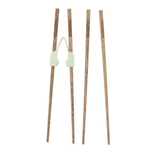 Descripción:       - Ayudantes de palitos para niños y adultos. - Puede usarse como un puente elástico, ayúdelos a abrir los palillos. - Especialmente para principiantes que quieren tomar comida usando palillos. - Ayudante para palillos con b...