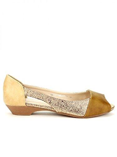Cendriyon, Ballerine Caramel STUDIO H Chaussures Femme Caramel