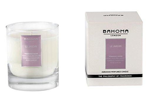 Duftnote Desire London Parfümierte Kerze 220g (7.8oz.) handgefertigt in England, Le Jardin, 220g Jardin Tee