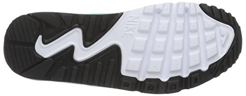 Nike Mädchen Air Max 90 Mesh (GS) Turnschuhe Blanco (Blanco (White / Gmm Bl-Pnk Blst-Ghst Grn))