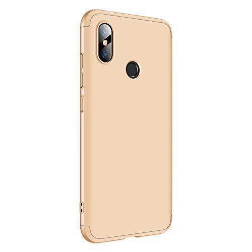Croazhi Funda Compatible con Xiaomi Redmi Note 6 Pro/Note 5 Pro Carcasa para Redmi Note 6 Pro/ 5 Pro Cover Case PC Protector Silicona Ultra-Fina-Slim 360 (Dorado, Redmi Note 6 Pro)