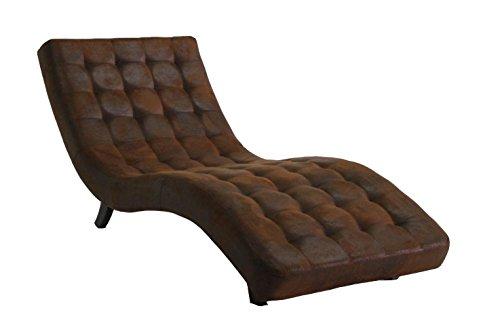 Relaxliege Loungeliege Chaiselounge ka-line® braun Stoff-Bezug Premium Holz-Füße Liege-Sessel Relaxsessel Ruhe-Sessel ComfortEntspannungsliege