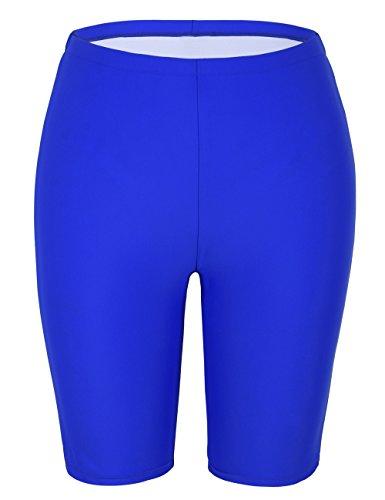 Hilor Damen UV Badehose Ausbildung Kurz Badeshorts Sporthose Schwimm Sport Hose Royal Blau 52