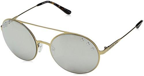 Michael kors cabo 11936g 55 occhiali da sole, oro (pale gold-tone/silvermirror), donna