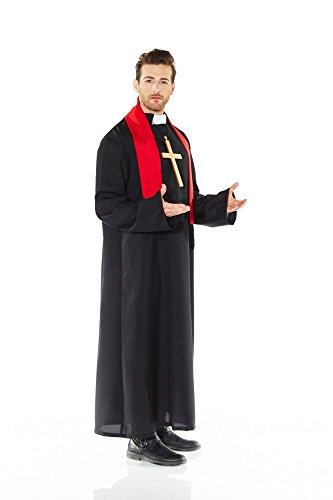 Kostüm PRIESTER Pastor Geistlicher - TOP QUALITÄT, Größe:L