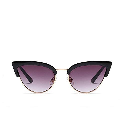 HYUHYU Halbrahmen Cat Eye ModeSonnenbrillen Frauen Marken Sunglass Für Weibliche Damen Vintage Sonnenglas