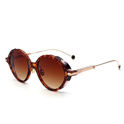 Yiph-Sunglass Sonnenbrillen Mode Helle Farben-Sonnenbrille-Sonnenbrille for Sonnenbrille der Frauen-Dame for das Fahren der Farbe-Überzug-Objektiv-Sonnenbrille (Farbe : Leopard Frame Double Tea)