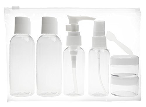 FiveSeasonStuff® 8 Piece Holiday Air Travel Bottle Kit, Complies with International Airport Travel Restrictions
