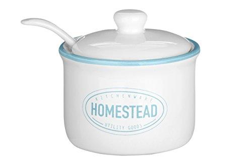 Premier Housewares Homestead Sucre Pot, Blanc, 130 ML, Lot de 2