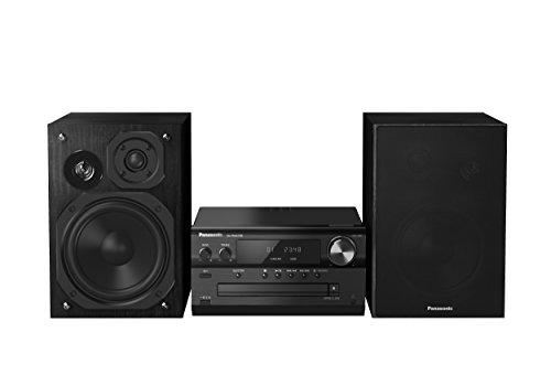 Panasonic SC-PMX70BEGK Micro HiFi System (CD Spieler, DAB+, Bluetooth, USB, Stereo Cinch, NFC, 120 Watt RMS) schwarz