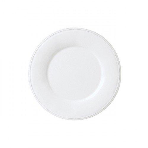 Coté Table - Assiette à dessert blanche en faience (par6)