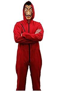 Zoelibat Salvador Dali - Mono de Disfraz de la Casa de Papel, Carnaval, Halloween, Fiesta temática, Color Rojo