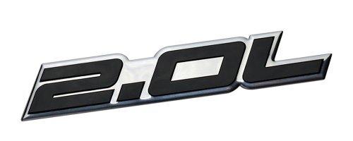 2.0L Liter Embossed BLACK on Highly Polished Silver Real Aluminum Auto Emblem Badge Nameplate for Honda B20 B-20 Civic Si LX EX CRV CR-V Del Sol S2000 F20C Fit Prelude Acura Integra ILX RSX Nissan Sentra S SR SR20-DET RB20-DET 240SX 200SX Mazda 3 MX5 MX-5 Miata Sport 626 LX Grand Touring Prot\xe9g\xe9 Mitsubishi Ralliart 4G63 4B11T Lancer EST GSR OZ EVO Evolution X Eclipse GS GST Spyder Eagle Talon Galant Mighty Max Outlander ES Sedan coupe 2 3 4 5 2dr 3dr 4dr 5dr door hatchback turbo turbocharg (Honda Rsx Emblem)