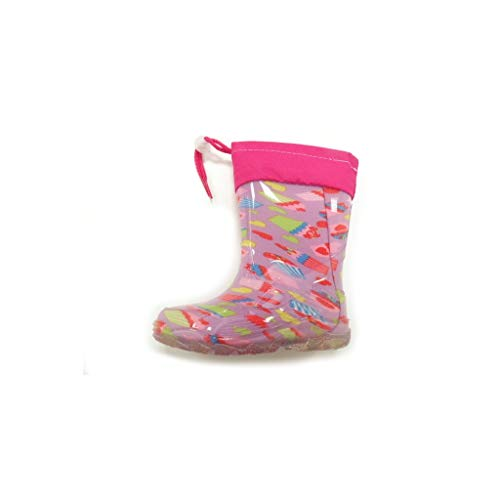 DIAMANTINO Rain Boot Rubber Hearts Female Pink