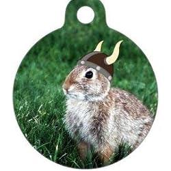 Pet ID Tag Médaille d'identification pour Animal Domestique - Photo Lapin Viking