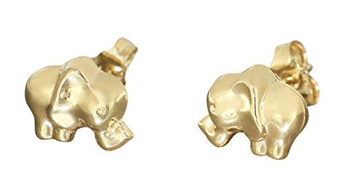 Hobra-Gold elefantes studs oro 750 - aretes Elefant oro studs 18 KT...
