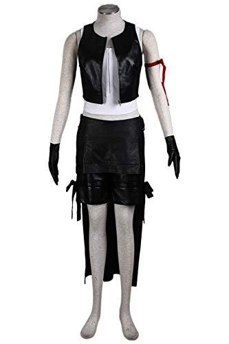 Karnestore Final Fantasy XIII FF13 Tifa Lockhart Outfit Cosplay Kostüm Damen (Tifa Final Fantasy Kostüm)