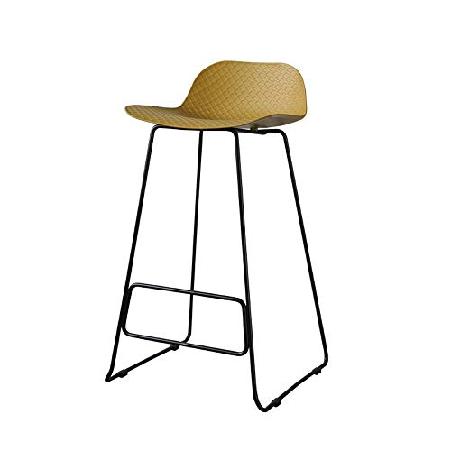 Messing Metall Stuhl (CAI Stuhl- Barhocker Metall + PP Material Nordic Style Esszimmerstuhl Haushaltshocker,Messing)