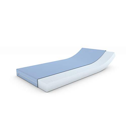 MSS Schaumstoffmatratze, Polyester, Blau, 140 x 200 cm