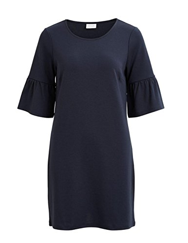 Vila Vitinn campana Sleeve Dress Blu Navy Blue