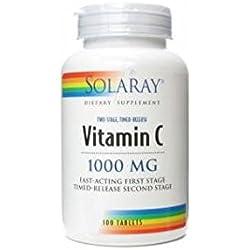 Vitamina C 100 comprimidos de 1000 mg de Solaray